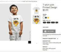 Dope, Free, and White: DS / BOYS SIZE 8-14Y+I TOPS&T-SHIRTS/ T-SHIRT WITH PRINTED DESIGN  T-shirt with  Printed Design  $5.99  COLOR:  White  the OO  om the  Dl  SIZE: Select size  8-10Y10-12Y12-14Y 14Y+  SIZE GUIDE  ADD TO BAG  Free shipping if you tell everyone we're  not racist  PRODUCT DESCRIPTION  DESCRIPTION  Crew-neck T-shirt in cotton jersey with  dope design.  DETAILS  60% cotton, 40% polyester.  Imported I can't believe this https://t.co/T5mMkXVwiJ