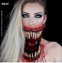 This Halloween makeup is absolutely terrifying 😱😩: DSIMPLE SYMPHONY MAKEUP ARTIST This Halloween makeup is absolutely terrifying 😱😩