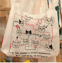 Kitties, Memes, and Kittens: DUD  TT  THIS DIAGRAM IS ENTIRELY NONSENSICAL  BUT LOOK AT ALL THE KITTENS  III I visited @thelittledromstore today - such a wonderful shop run by lovely people! They sell so many of my products, too (like this kitty bag) ❤️🐱