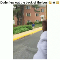 He needs some milk 😂 HoodClips: Dude flew out the back of the bus He needs some milk 😂 HoodClips