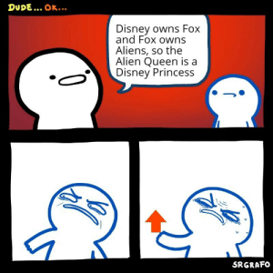 I mean. He aint wrong by elfluffynator MORE MEMES: DUDE. OK...  Disney owns Fox  and Fox owns  Aliens, so the  Alien Queen is a  Disney Princess  SRGRAFO I mean. He aint wrong by elfluffynator MORE MEMES
