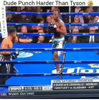 Dude Punch Harder Than Tyson  ESPN SATURDAY SHOWCASE  4 DUKE vs 6 LOUISVILLE NOON ET  1 KENTUCKY vs ALABAMA -4 ET  1:15 RD 2  LAL Bryant: Out (rest) This how hard I get curved 😐 funny lol lmao hilarious meme friends wshh crazy silly worldstar jokes funnypictures haha humor kmsl entertainment petty 24hourlaughs mememaker comedy goals mood relationshipgoals instagood love me follow tagforlikes tbt getout