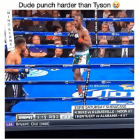Dude, Espn, and Friends: Dude punch harder than Tyson  N L  SIG: eBruhi funny  ESPN SATURDAYSHOWCASE  4 DUKE vs 6 LOUISVILLE NOONET  EFFin 1:15 RD 2  of  1 KENTUCKY vs ALABAMA -4ET  LAL Bryant: Out (rest) Damn Right 😭😭👊🏽💯 ✖️ Tag Friends ✖️ Follow (me) For More ✖️ Credit: 🤷🏽♂️