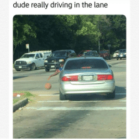 Driving, Dude, and Really: dude really driving in the lane  0H-879 He serious about it 🤣🤷♂️ https://t.co/IkOYIEa8Wn