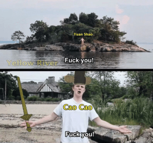 Dude talking to stranger that's on an island: Dude talking to stranger that's on an island