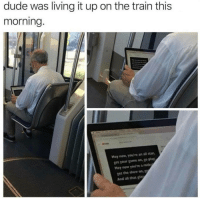 hey now: dude was living it up on the train this  morning.  Hey now, you're an all star  get your game on, go play  Hey now you're a reck  ฐet the show on,  And all that t