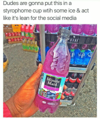 Nigga filter in effect • ➫➫ Follow @savagememesss for more posts daily: Dudes are gonna put this in a  styrophome cup wtih some ice & act  like it's lean for the social media  Minute  aid  BERRY PUNCH Nigga filter in effect • ➫➫ Follow @savagememesss for more posts daily