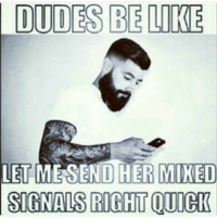 More importantly, there's nothing that can ruin a good meme the way a hipster beard can 😂 😂 😂: DUDES BE LIKE  LET ME SEND HER MIXED  SIGNALS RIGHTOUIGK More importantly, there's nothing that can ruin a good meme the way a hipster beard can 😂 😂 😂