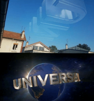 Due to less pollution the Universal logo is now visible: Due to less pollution the Universal logo is now visible