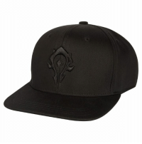 26f021fc53c Due to Popular Demand We re Bringing Back the Black on Black Horde Alliance  and WoW Logo Hats! Introducing the World of Warcraft Blackout Snap Back Hat  ...