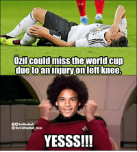 Memes, 🤖, and Now: due toaninjury on left knee.  TrollFootball  TheTrollFootball Insta  YESSS!!! Sane right now https://t.co/iBMs5jO1ca