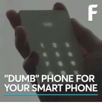 "Dumb, Memes, and Phone: ""DUMB"" PHONE FOR  YOUR SMART PHONE @Regrann from @1consciousmind - When 'offline' is the new luxury 👀 via @futurism - regrann"
