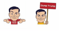 "DUMP  TRUMP  Dump Trump Today feels like the perfect day to add these to my Oh Myyy-ojis sticker collection. You can find them in the ""Oh Myyy"" and ""Stern Trek"" add-on packs right now, friends. To download the app for free, click the link in my bio."