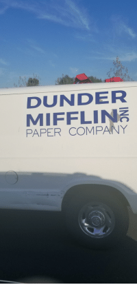 Found this thing on the freeway. Someone getting their paper needs filled? - Album on Imgur: DUNDER  MIFFLIN  PAPER COMPANY Found this thing on the freeway. Someone getting their paper needs filled? - Album on Imgur