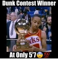 Anaconda, Dunk, and Memes: Dunk Contest Winner  100  At Only 57 Spud Webb was only 5'7!😱 - Follow @floaters for more!
