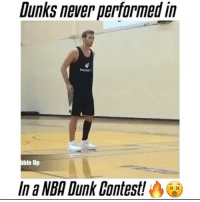 Cute, Dunk, and Memes: Dunks never performed in  ble Up  In a NBA Dunk Contest!  XX DoubleTap for the GOAT😈 - Follow @fullcourtplayz for more! - DoubleTap dubai cute webstagram