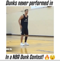 These dunks are unreal👀🔥 - Follow me @thrillingsports for more! via @fullmixes: Dunks never performed in  ble Up  Ina NBA Dunk Contest! These dunks are unreal👀🔥 - Follow me @thrillingsports for more! via @fullmixes