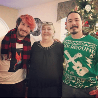 Dank, 🤖, and Step: Dur Santa  Diar Santa  0CKAROLINE  THE  폿 Merry Christmas from my brother and my step-mom!