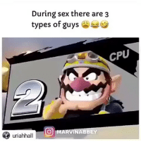 Funny, Sex, and Wtf: During sex there are3  types ot guys  CPU  OMARVI  INABBEY  uriahhall Bro wtf 😂😂🦍