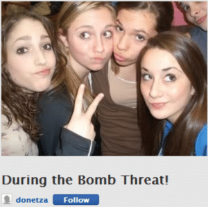 Bomb, Threat, and The: During the Bomb Threat!  donetza  Followw