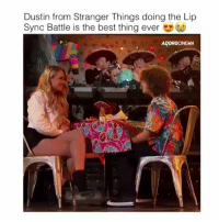 Memes, Best, and 🤖: Dustin from Stranger Things doing the Lip  Sync Battle is the best thing ever Follow me (@bitchy.code) for more