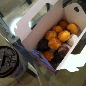 Ass, Fucking, and Gif: dustpanfairytale:  redvsgreen:  I just realized you American fuckholes have no idea what these are. These little pieces of heaven are called Tim Bits (it's only morbid if you know that the namesake of this awesome ass coffee place died in a car crash.) These orgasmic mouth fillers (no seriously, they fill your mouth to just the right amount) come in a fucking trucks worth of different flavoUrs. They're like donut holes but better. These little fuckers come in packs of ten, twenty and forty and are cheap as dirt. Teachers get these little tastes of gods perfection as rewards for hard working students. That's why everyone in Canada has As (or should I say 'eh's?)