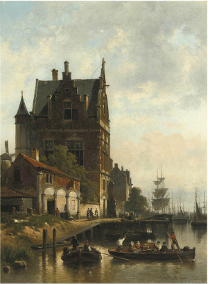 dutch-and-flemish-painters: Jan Michiel Ruyten - A view on the quay of the Schelde with the pilotage, Antwerp -  Jan Michiel Ruyten or Jan Ruyten (9 April 1813, in Antwerp – 12 November 1881, in Antwerp) was a Belgian Romantic painter, draughtsman and engraver known for his genre paintings, cityscapes, landscapes with figures and history paintings. He was influenced by Dutch Romantic painting. : dutch-and-flemish-painters: Jan Michiel Ruyten - A view on the quay of the Schelde with the pilotage, Antwerp -  Jan Michiel Ruyten or Jan Ruyten (9 April 1813, in Antwerp – 12 November 1881, in Antwerp) was a Belgian Romantic painter, draughtsman and engraver known for his genre paintings, cityscapes, landscapes with figures and history paintings. He was influenced by Dutch Romantic painting.
