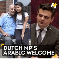 Memes, Arab, and Politicians: DUTCH MP'S  ARABIC WELCOME Speaking in Arabic, this Dutch politician gives a warm welcome to refugees.