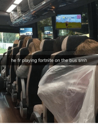 Memes, Smh, and Worldstar: DVD  he fr playing fortnite on the bus smh He really playing Fortnite on the bus 🎮🚌😂 @worldstar WSHH