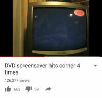 screensav: DVD screensaver hits corner 4  times  126,377 views  663 69
