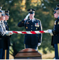 U.S. Army Staff Sgt. Bryan Black, the soldier who died from wounds sustained during enemy contact in the country of Niger, is laid to rest in Arlington National Cemetery.: DvIDS/  Eizabeth  Fra U.S. Army Staff Sgt. Bryan Black, the soldier who died from wounds sustained during enemy contact in the country of Niger, is laid to rest in Arlington National Cemetery.