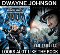 Anyone else notice this??? -Fallen: DWAYNE JOHNSON  D W A Y N E  J O H N S O N  KARL  no THE  SAN ANDREAS  copyrighted  mat Ral  MAY 29  LOOKS ALOT LIKE THE ROCK Anyone else notice this??? -Fallen