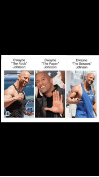 "The Rock: Dwayne  ""The Rock  Johnson  Dwayne  The Paper""  Johnson  Dwayne  The Scissors""  Johnson"