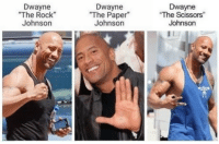 "Rock Johnson: Dwayne  The Rock  Johnson  Dwayne  ""The Paper  Johnson  Dwayne  The Scissors""  Johnson"