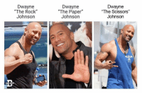 "...Illuminati...?: Dwayne  ""The Rock""  Johnson  Dwayne  ""The Paper""  Johnsorn  Dwayne  ""The Scissors""  Johnson  THE DAD ...Illuminati...?"