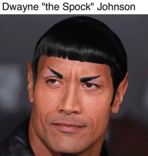"Never knew I needed this in my life till I saw it: Dwayne ""the Spock"" Johnson Never knew I needed this in my life till I saw it"