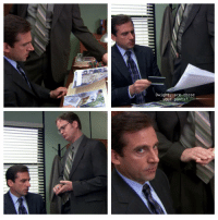 When Dwight took a Polaroid of his phallus and showed Michael: Dwight, are those  your pants? When Dwight took a Polaroid of his phallus and showed Michael