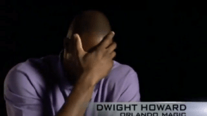 Dwight Howard breaking down getting dunked on by Kobe. 😂 https://t.co/7juawKPMhA: Dwight Howard breaking down getting dunked on by Kobe. 😂 https://t.co/7juawKPMhA