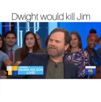 I Bet, Memes, and Omg: Dwight would kill Jim  RAINN WILSON  LIVE!  MA OMG i bet