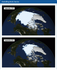 "Global Warming, Tumblr, and Blog: Dwindling Arctic Sea Ice  September 1979  September 2012 <p><a href=""http://photos-of-space.tumblr.com/post/157620436327/it-might-be-possible-to-refreeze-the-icecaps-to"" class=""tumblr_blog"">photos-of-space</a>:</p>  <blockquote><p>It Might Be Possible to Refreeze the Icecaps to Slow Global Warming</p></blockquote>"