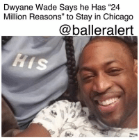 "DwyaneWade Says he Has ""24 Million Reasons"" to Stay in Chicago -blogged by @msjennyb - ⠀⠀⠀⠀⠀⠀⠀ ⠀⠀⠀⠀⠀⠀⠀ On Tuesday, reports surfaced concerning Dwyane Wade's player option for the 2017-18 regular season. Months ago, the Chicago Bulls veteran revealed that he wanted to leave all his options open this summer as he contemplated the $23.8 million player option. As the Jimmy Butler trade talk surfaced, many believed such a move could sway Wade to ditch his hometown and take his talents elsewhere. However, despite recent rumors, Wade has informed the Bulls he will pick up his option for the forthcoming season. When asked why, Wade reportedly told TNT's David Aldridge that he had ""24 million reasons,"" why he chose to stay in Chicago. ⠀⠀⠀⠀⠀⠀⠀ ⠀⠀⠀⠀⠀⠀⠀ Just last year, Wade signed a $47.5 million two-year deal, which included a player option for the second year, with his hometown team after 13 seasons with the Miami Heat. In 60 games with the Bulls, the three-time NBA champion and 12-time NBA All-star averaged 18.3 points, shooting 43 percent from the floor. Although the 35-year-old baller missed the final 14 games of the season, due to injury, he came back in the playoffs, averaging 15 points and five rebounds against the Boston Celtics. ⠀⠀⠀⠀⠀⠀⠀ ⠀⠀⠀⠀⠀⠀⠀ Now, as Wade prepares for his 15th season in the NBA and second with his hometown team, he is looking to continue the grind. Although his numbers have decreased with age, he still believes he is more than worthy of a $20 million deal. ⠀⠀⠀⠀⠀⠀⠀ ⠀⠀⠀⠀⠀⠀⠀ ""18.3 points a game in 29 min on 43% shooting at 35 years old. If I'm 25 with the same numbers I'm getting 150 million Fading petty,"" Wade tweeted after news surfaced of his decision to pick up the option. ⠀⠀⠀⠀⠀⠀⠀ ⠀⠀⠀⠀⠀⠀⠀ What are your thoughts?: Dwyane Wade Says he Has ""24  Million Reasons"" to Stay in Chicago  @balleralert DwyaneWade Says he Has ""24 Million Reasons"" to Stay in Chicago -blogged by @msjennyb - ⠀⠀⠀⠀⠀⠀⠀ ⠀⠀⠀⠀⠀⠀⠀ On Tuesday, reports surfaced concerning Dwyane Wade's player option for the 2017-18 regular season. Months ago, the Chicago Bulls veteran revealed that he wanted to leave all his options open this summer as he contemplated the $23.8 million player option. As the Jimmy Butler trade talk surfaced, many believed such a move could sway Wade to ditch his hometown and take his talents elsewhere. However, despite recent rumors, Wade has informed the Bulls he will pick up his option for the forthcoming season. When asked why, Wade reportedly told TNT's David Aldridge that he had ""24 million reasons,"" why he chose to stay in Chicago. ⠀⠀⠀⠀⠀⠀⠀ ⠀⠀⠀⠀⠀⠀⠀ Just last year, Wade signed a $47.5 million two-year deal, which included a player option for the second year, with his hometown team after 13 seasons with the Miami Heat. In 60 games with the Bulls, the three-time NBA champion and 12-time NBA All-star averaged 18.3 points, shooting 43 percent from the floor. Although the 35-year-old baller missed the final 14 games of the season, due to injury, he came back in the playoffs, averaging 15 points and five rebounds against the Boston Celtics. ⠀⠀⠀⠀⠀⠀⠀ ⠀⠀⠀⠀⠀⠀⠀ Now, as Wade prepares for his 15th season in the NBA and second with his hometown team, he is looking to continue the grind. Although his numbers have decreased with age, he still believes he is more than worthy of a $20 million deal. ⠀⠀⠀⠀⠀⠀⠀ ⠀⠀⠀⠀⠀⠀⠀ ""18.3 points a game in 29 min on 43% shooting at 35 years old. If I'm 25 with the same numbers I'm getting 150 million Fading petty,"" Wade tweeted after news surfaced of his decision to pick up the option. ⠀⠀⠀⠀⠀⠀⠀ ⠀⠀⠀⠀⠀⠀⠀ What are your thoughts?"