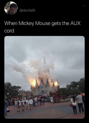 Dank, Memes, and Target: @dxnielit  When Mickey Mouse gets the AUX  cord  6226Upp HOT DOG HOT DOG HOT DIGGITY DOG by PikachuGoat MORE MEMES