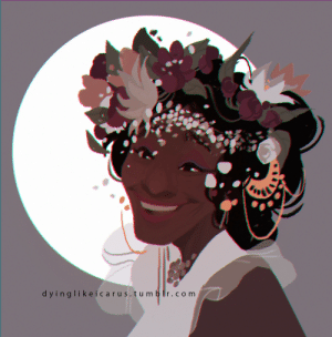 Run, Target, and Tumblr: dyinglikeicarus. tu m b r.com infernallegaycy: dyinglikeicarus: Quick sketch-illustration of Marsha P. Johnson [id: an illustration of marsha p. johnson from the shoulders up, smiling  wearing an extravagant flower crown. /end id.]