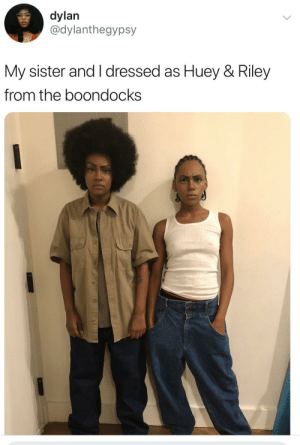 Dank, Memes, and Target: dylan  @dylanthegypsy  My sister and I dressed as Huey & Riley  from the boondocks Dopest costumes ever by Noafrosamurai MORE MEMES