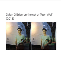 Dylan O'Brien, Memes, and Teen Wolf: Dylan O'Brien on the set of Teen Wolf  (2013) Tired