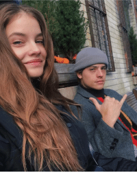 Girl Memes, Barbara Palvin, and Dylan Sprouse: Dylan Sprouse and Barbara Palvin.
