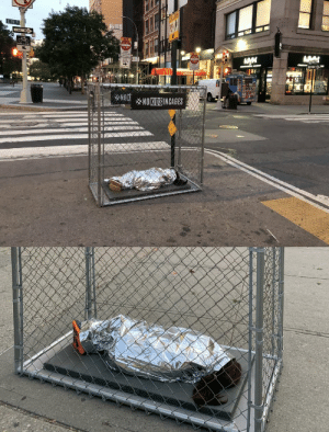 artemisdreaming:  Installations across NYC depict kids in cages with audio of children crying. Protesting the separation of families and detention of children in cages happening at US Mexico border.  The installations are being dismantled by police.      Kids at our border are living in cages. This stops now.  Sharing is an act of protest.  NoKidsInCages.com https://www.instagram.com/nokidsincages/ https://twitter.com/nokidsincagesus   : E 17 St  ONE  WAY  NEN  cO NOT  KE LANE  ENTLRE  cO N  wENCLES  ALL  TRAPTIC  ENTER  WAY  ON  mcDonak's m  NOKNOKIDSINCAGES artemisdreaming:  Installations across NYC depict kids in cages with audio of children crying. Protesting the separation of families and detention of children in cages happening at US Mexico border.  The installations are being dismantled by police.      Kids at our border are living in cages. This stops now.  Sharing is an act of protest.  NoKidsInCages.com https://www.instagram.com/nokidsincages/ https://twitter.com/nokidsincagesus