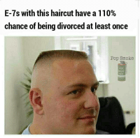 Andrew Bogut, Haircut, and Memes: E-7s with this haircut have a 110%  chance of being divorced at least once  Pop Smoke  RED