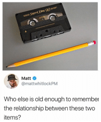 Trip down memory lane: E 90  SuperCDing  Matt  @mattwhitlockPM  Who else is old enough to remember  the relationship between these two  items? Trip down memory lane