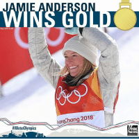 Memes, News, and Fox News: E ANDE  Sipa USA via AP  ongChang 2018  #WinterOlympics  FOX  NEWS Jamie Anderson defended her title in Olympic women's slopestyle snowboarding to give the United States its second gold medal at the Pyeongchang Games.